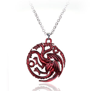 N184 Red Dragon Pendant Necklaces