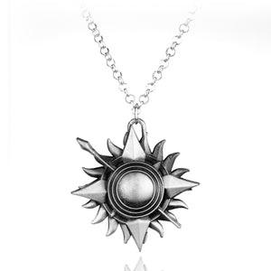 N214 Sliver Sun Pendant Necklaces