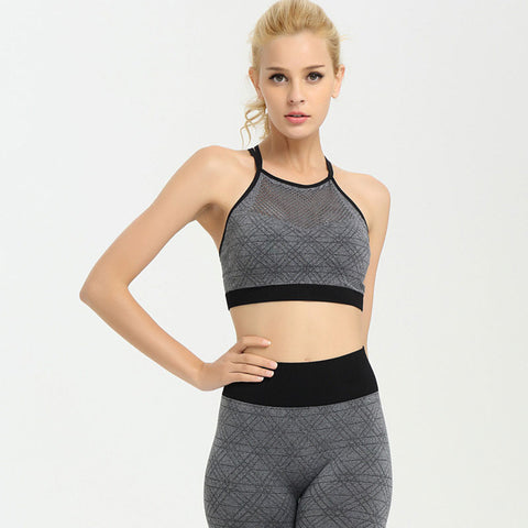 Women Fitness Tops With Front Mesh