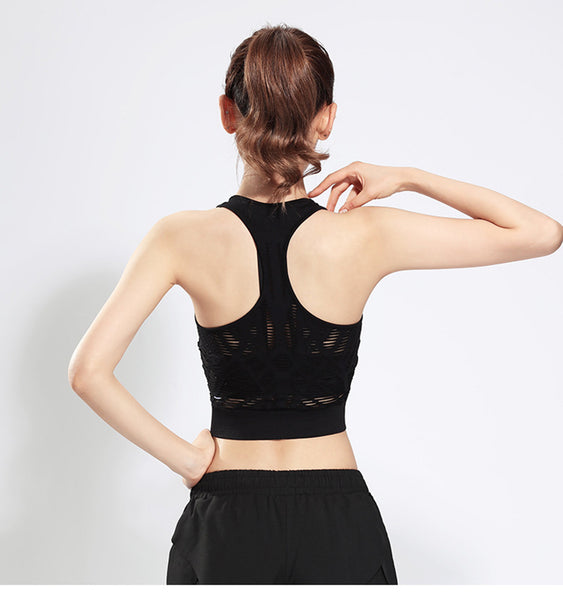 Hollow Out Stylish Fitness Sleeveless Top