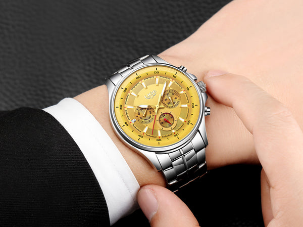 LIGE Men Luxury Waterproof Watches