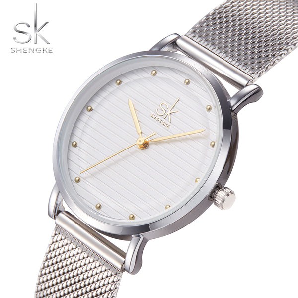 Luxury Fashion Ladies Water resistant Quartz Watches with Stainless Steel Band