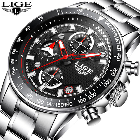 LIGE Luxury Mens Waterproof  Watches #2