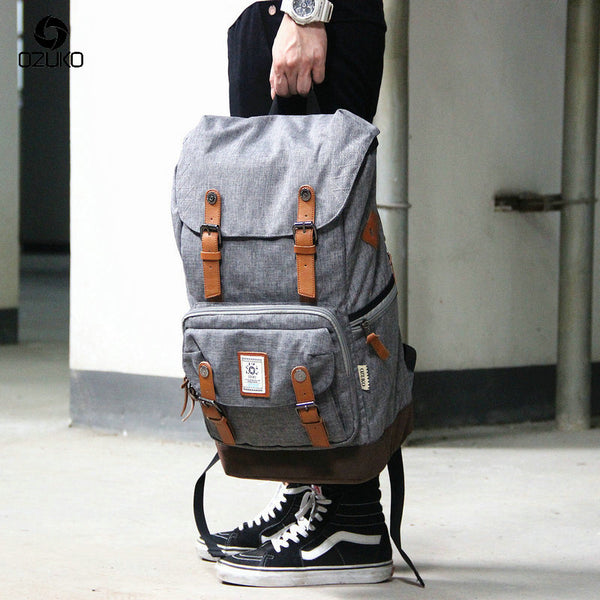 OZUKO New High Quality Large Capacity Casual Unisex Backpack