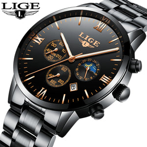 Luxury Chronograph Men Sports Water Resistant Full Steel Quartz Men's Watches 9831
