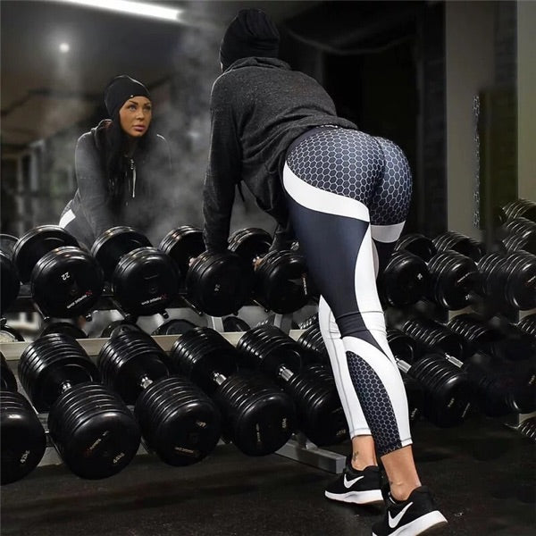 Honeycomb printing Fitness Leggings