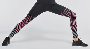 Stripe Lines Reflective Yoga Leggings