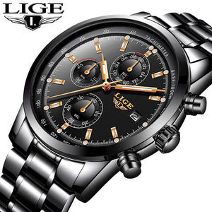 Luxury Brand Full Steel Water Resistance Men's Watches 9859