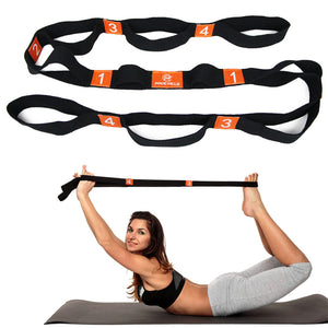 Yoga Stretch Strap with Multiple Grip Loops