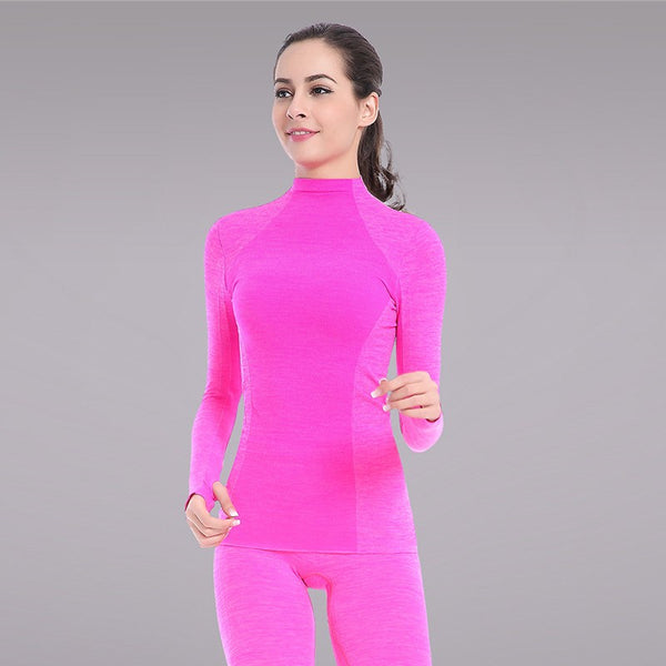 Women Fitness Colourful Long Sleeve shirts With Neck Collar