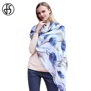 Luxury Flower Print  Soft Scarf Shawl
