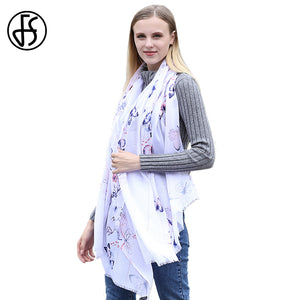 Luxury Butterfly Print Scarf Shawl