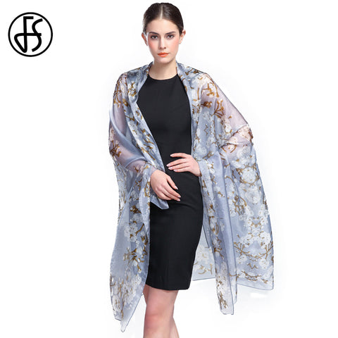Luxury Print  Silk Scarves For Woman