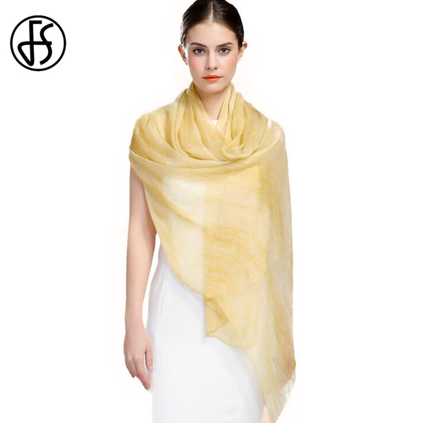 Luxury Solid Color Silk Scarves For Woman
