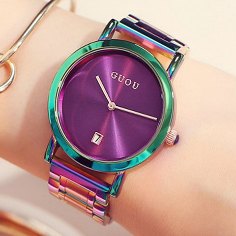 Fashion Colourful Water Resistance Women's Watches
