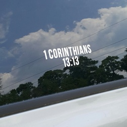 SCRIPTUREFERENCES  - Vinyl Window Decal - 1 Cor. 13:13