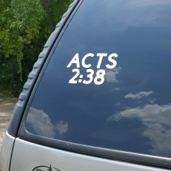 SCRIPTUREFERENCES  - Vinyl Window Decal - Acts 2:38