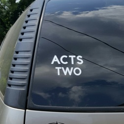 SCRIPTUREFERENCES  - Vinyl Window Decal - Acts Two