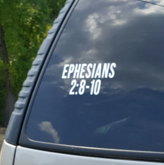 SCRIPTUREFERENCES  - Vinyl Window Decal - Ephesians 2:8-10