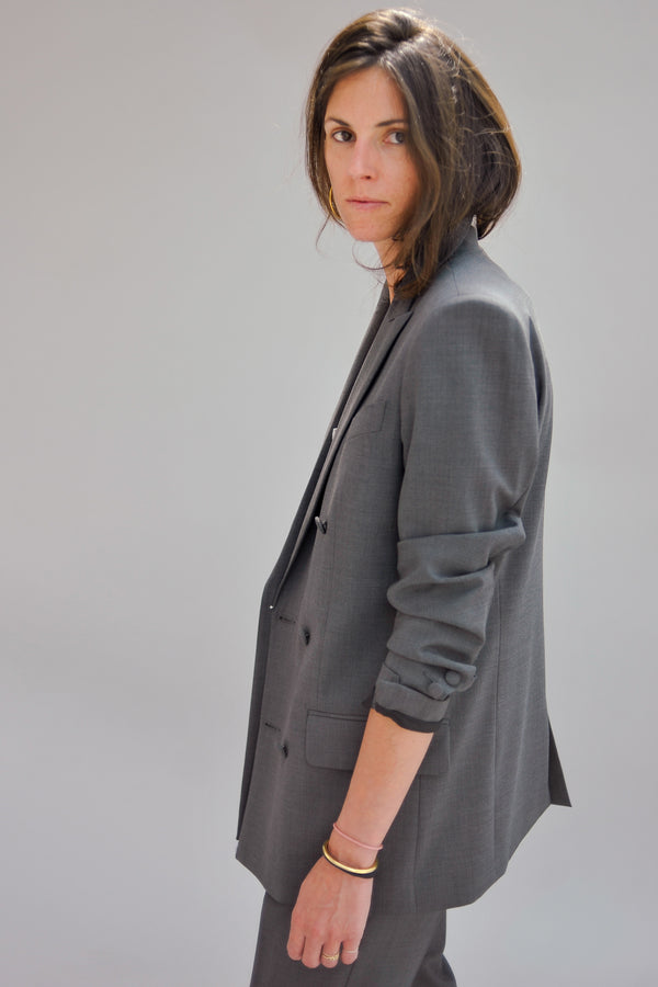 BILLIE boyfriend tailored jacket - Grey