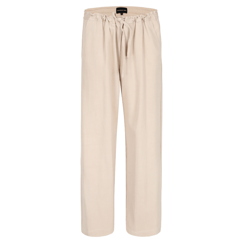 SARAH DE SAINT HUBERT poudre trousers made of viscose - cotton with wide, straight legs. Fluid, comfy and relaxed fit.