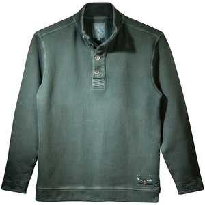 Uber Moose button sweater in Green
