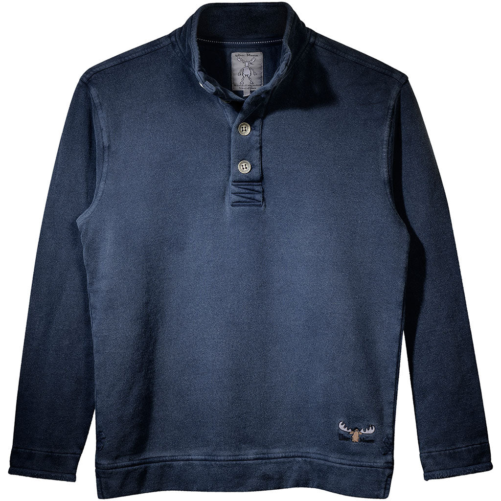 Uber Moose button sweater in Indigo