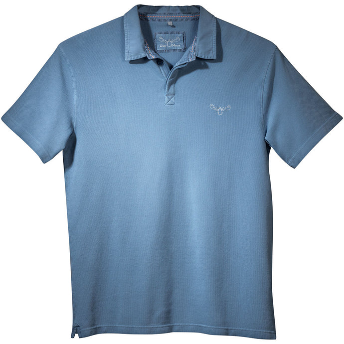 Pique Polo Shirt in Blue