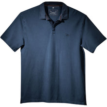Pique Polo Shirt in Indigo