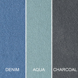 Colours: Denim, Aqua and Charcoal