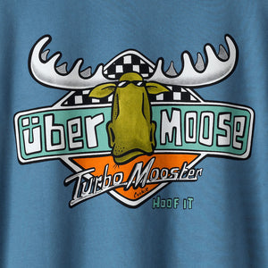 Turbo Mooster T-Shirt - Large Back Print - Denim