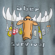 Uber Survival T-Shirt - Large Back Print - Grey