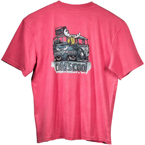 Old's Cool Van T-Shirt - Large Back Print - Pink
