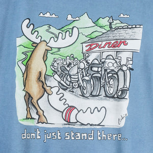 Don't Just Stand There T-Shirt - Large Back Print - Denim