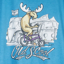 Old's Cool Chopper T-Shirt - Large Back Print - Alaskan Blue