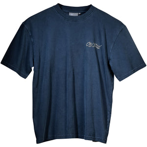 Old's Cool Chopper T-Shirt - Small Chest Print - Indigo