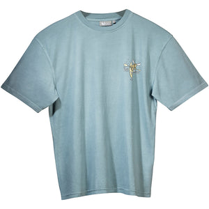 No Worries T-Shirt - Small Chest Print - Aqua