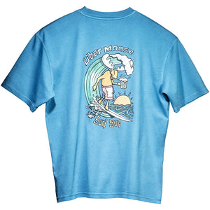 Surf Sup T-Shirt - Large Back Print - Alaskan Blue