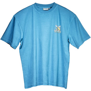 Surf Sup T-Shirt - Small Chest Print - Alaskan Blue