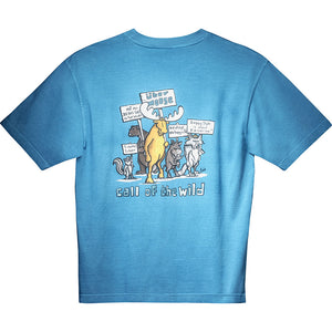 Call Of the Wild T-Shirt - Large Back Print - Alaskan Blue