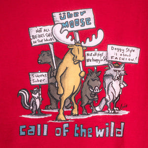 Call Of the Wild T-Shirt - Large Back Print - Red
