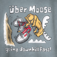 Going Downhill Fast T-Shirt - Large Back Print - Grey