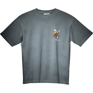 Going Downhill Fast T-Shirt - Small Chest Print - Grey