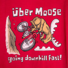 Going Downhill Fast T-Shirt - Large Back Print - Red
