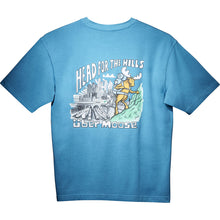 Head for the Hills T-Shirt - Large Back Print - Alaskan Blue