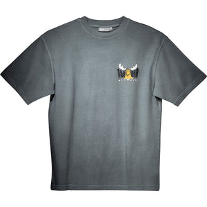 Head for the Hills T-Shirt - Small Chest Print - Grey
