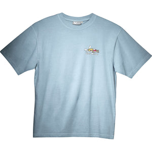Hyper Inactive T-Shirt - Small Chest Print - Sky
