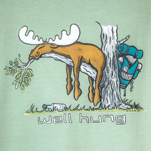 Well Hung T-Shirt - Large Back Print - Green