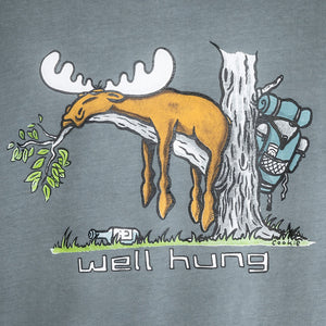 Well Hung T-Shirt - Large Back Print - Grey