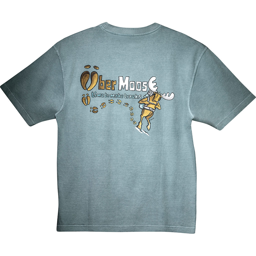 Make Tracks T-Shirt - Large Back Print - Turquoise